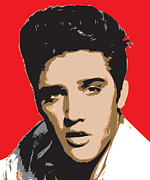 Most Digital Art Posters - Elvis-Presley - pop Art Portrait Poster by Martin Deane