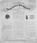 Slavery Photo Framed Prints - Emancipation Proclamation Framed Print by Photo Researchers