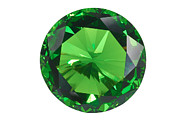Diamond Posters - Emerald Isolated Poster by Atiketta Sangasaeng