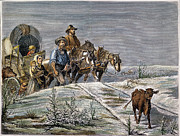 1874 Prints - Emigrants, 1874 Print by Granger