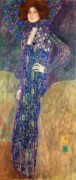 Jugendstil Framed Prints - Emilie Floege Framed Print by Gustav Klimt