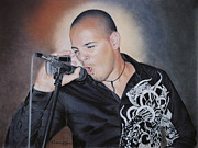 Photorealism Pastels Prints - Emilio Singing His Heart Out Print by Nanybel Salazar