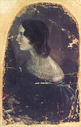 1833 Framed Prints - Emily BrontË (1818-1848) Framed Print by Granger