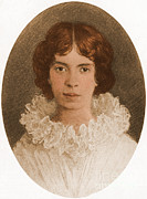 Famous Person Portrait Posters - Emily Dickinson, American Poet Poster by Photo Researchers