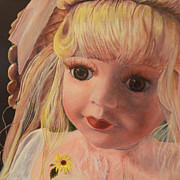 Doll Paintings - Emily by Jane Autry