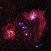 Auriga Prints - Emission Nebulae Print by Celestial Image Co.