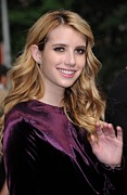 Apparel Prints - Emma Roberts In Attendance Print by Everett