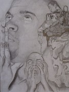 Army Drawings Originals - Emotional Soldier by Jason Turner