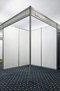 Cubicle Framed Prints - Empty Exhibition Booth Framed Print by Jon Boyes