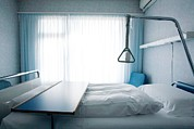 Mortality Framed Prints - Empty Hospital Bed Framed Print by Mauro Fermariello