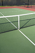 Recreational Park Framed Prints - Empty Tennis Court Framed Print by Thom Gourley/Flatbread Images, LLC