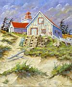 Nature Scene Paintings - End of lobster season by Richard T Pranke