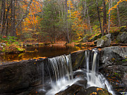 Tranquil Photos - Enders Falls by Bill  Wakeley