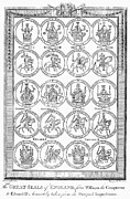 William Ii Prints - England: Royal Seals Print by Granger