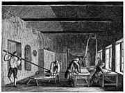 Lapping Prints - England: Textile Mill Print by Granger
