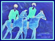 Horse Pastels Paintings - English Equestrain Horse Riders by Peggy Leyva Conley