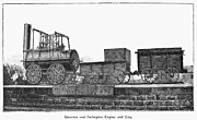 Stockton Prints - English Locomotive, 1825 Print by Granger