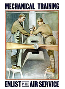 Mechanic Metal Prints - Enlist In The Air Service Metal Print by War Is Hell Store
