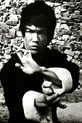 Movies Photo Framed Prints - Enter The Dragon, Bruce Lee, 1973 Framed Print by Everett