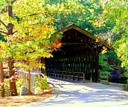 Covered Bridges Metal Prints - Enticement Metal Print by Karen Wiles