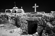 Kypros Framed Prints - Entrance To The Underground Old Church At Ayia Thekla Republic Of Cyprus Europe Framed Print by Joe Fox