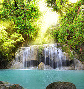 Thai Originals - Erawan Waterfall by Anek Suwannaphoom