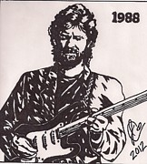 Music Legend Drawings Posters - Eric Clapton Poster by Jeremiah Colley