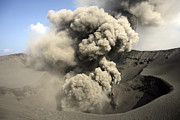 Craters Prints - Eruption Of Volcanic Ash, Summit Print by Richard Roscoe