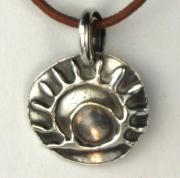 Tucson Arizona Jewelry Originals - Esprit Del Sol Fine Silver Necklace by Virginia Vivier