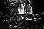 Green Movement Prints - Ess-na-crub Waterfall On The Inver River In Glenariff Forest Park County Antrim Northern Ireland Uk Print by Joe Fox