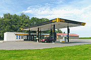 Estonia Framed Prints - Estonian Gas Station Framed Print by Jaak Nilson