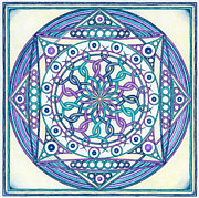 Chakra Drawings - Eternity Mandala by Hakon Soreide