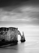 Waterscape Framed Prints - Etretat Framed Print by Nina Papiorek
