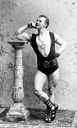 Sports Star Prints - Eugen Sandow 1867-1925 Strong Man Print by Everett