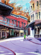 Store Fronts Paintings - Eureka Springs AK 4 by Ron Stephens