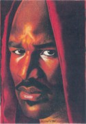 Boxer Drawings - Evander Holyfield by Keith Burnette