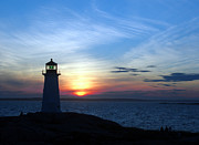 Evening At Peggy's Cove Print by George Cousins