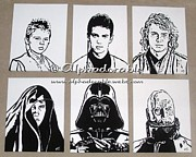 Sith Paintings - Evolution of the Sith Lord by Amanda Plester