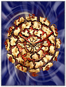 Wood Digital Art Framed Prints - Exploding Clock Framed Print by Mike McGlothlen