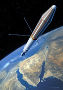31st Prints - Explorer 1 In Orbit Print by Detlev Van Ravenswaay
