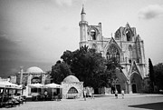 Pasha Framed Prints - Exterior Of Lala Mustafa Pasha Mosque Old Town Of Famagusta Turkish Republic Of Northern Cyprus Trnc Framed Print by Joe Fox