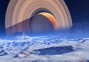 Extrasolar Planet Prints - Extrasolar Planet Print by Detlev Van Ravenswaay