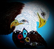 Yellow Beak Paintings - Eye Believe in Freedom by Angela Pari  Dominic Chumroo