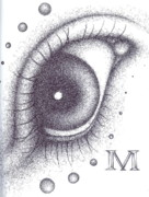 Eyeball Drawings Posters - Eye Poster by Matt Mercer