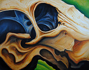 Abstract Bull Painting Posters - Eye Socket Poster by Chris Steinken