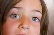 Granddaughter Posters - Eyes Have It Poster by Chuck Staley