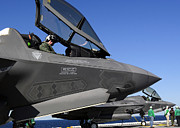 Us Open Art - F-35b Lightning Ii Variants Are Secured by Stocktrek Images