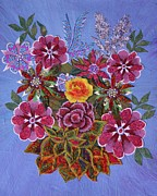 Fabric Mixed Media - Fabric Bouquet by Bob Craig