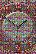 Clock Hands Digital Art Prints - Faces of Time 2 Print by Mike McGlothlen