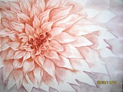 Peach Tapestries - Textiles Originals - Fade To Peach by Husna Rafath